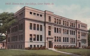 Iowa Cedar Rapids Science Hall Coe College 1913