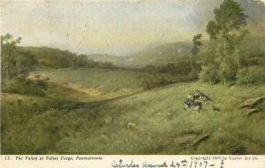 Valley Forge PA~1907 Bought This Postcard @ Wanamakers~Elizabeth Deeble 1908