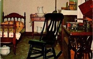 Springfield IL Abraham Lincoln's Home Maids Room Postcard unused (13873)