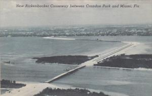 Florida New Rickenbacker Causeway Between Crandon Park and Miami