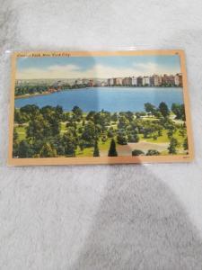 Antique Postcard, Central Park, New York City