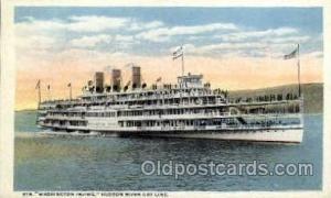 Steamer Washington Irving, Hudson River Day Line, Albany New York USA Postcar...