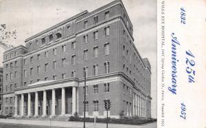 Philadelphia Pennsylvania~Wills Eye Hospital~125th Anniversary~1957 B&W Postcard