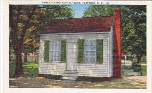Henry Timrod Schoolhouse Florence South Carolina