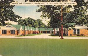 arkadelphia court hotel arkadelphia arkansas L4445 antique postcard