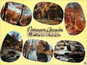 Postcard Modern Landscapes Waterfalls Rivieres in Limousin