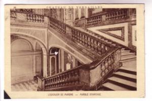 Interior, Marble Staircase Versailles Paris France, Braun & Cie 2538 A