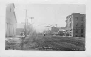 Graceville Minnesota~Main Street~Dry Goods Store~Welcome Colony Banner~1908 RPPC