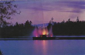 Canada Vancouver Fountain In Lost Lagoon Stanley Park