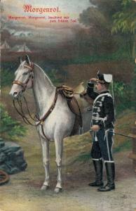 Military postcard Germany Morgenrot Morgenrot leuchtest mir zum frühen Tod 02.14