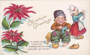 Christmas Dutch Kids With Wooden Shoes