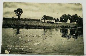 Delaware Lake Shellpot Park Wilmington Ducks Pond 1907 to S Keyport Postcard I9