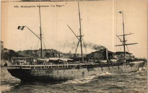 CPA Paquebot LE NIGER Messageries Maritimes SHIPS (703773)