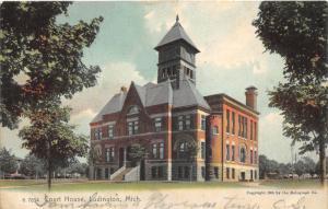 Ludington Michigan~Court House~1905 Rotograph Co Postcard