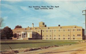 Upper Sandusky Ohio~Home for the Aged-New Building~Marseilles Avenue~1950s Pc
