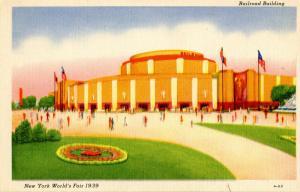 NY - 1939 New York World's Fair. The Railroad Building