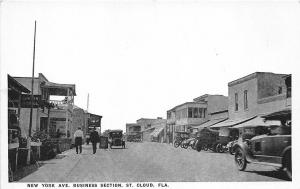 St Cloud FL New York Ave. Street View Store Fronts Postcard