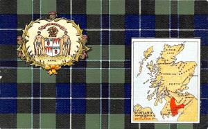 Scotland, UK Old Vintage Antique Post Card Scotland Map Unused
