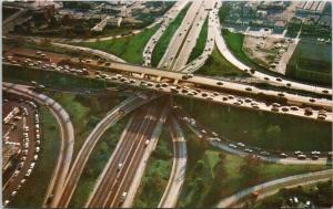 Freeway Interchange Los Angeles CA Aerial View Postcard D81 UNUSED