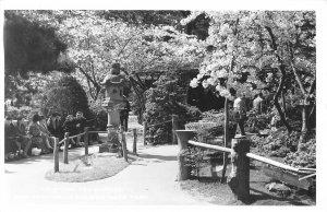RPPC Oriental Tea Garden, San Francisco, CA Golden Gate Park ca 1940s Postcard