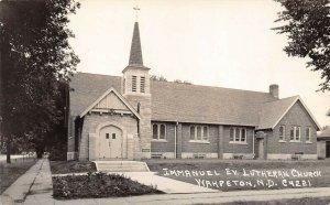 LPS42 Wahpeton North Dakota Immanuel Evangelist Lutheran Church Postcard RPPC