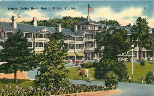 1948 POSTCARD NATURAL BRIDGE HOTEL NATURAL BRIDGE VIRGINIA VA