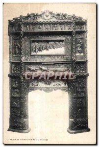 Postcard Old Rennes splendid fireplace of art Chene massive Dinard
