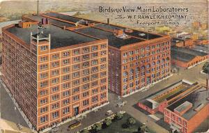 Freeport Illinois~WT Rawleigh Company Main Laboratories~Info Back~c1910 Postcard