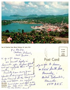 View of Castries from Morne Fortune, St. Lucia, W.I.