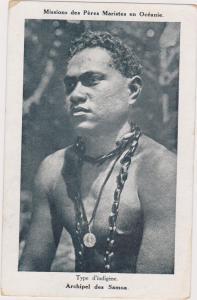 Types d´indigene, Archipel des Samoa, Male portrait, 1900-10s