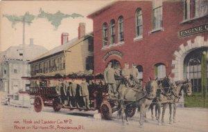 Rhode Island Providence Hook & Ladder Co No 2 House On Harrison Street sk638