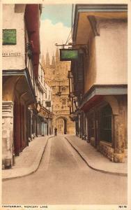 Canterbury Mercery Lane Street Postcard