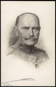 Germany WWI Red Cross General von Beseler Artist Signed  RPPC 77354