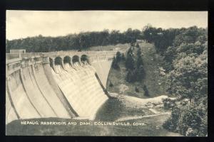 Collinsville, Connecticut/CT/Conn Postcard, Nepaug Reservoir & Dam