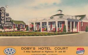 MONTGOMERY, Alabama, 1930-40s; Doby's Hotel Court, United Motor Courts