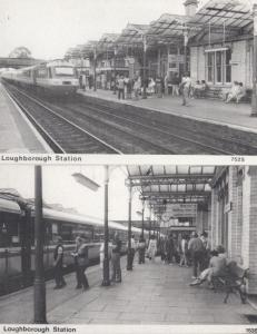 Looughborough Train Railway Station 2x Rare Postcard s