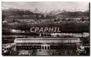 Postcard Old Train Pau The Gave The Pyrenees