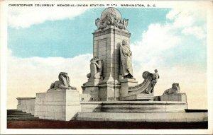Vtg 1920s Christopher Columbus Memorial Union Station Washington DC Postcard