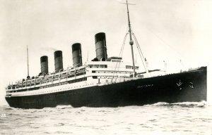 Cunard Line - RMS Aquitania.   *RPPC