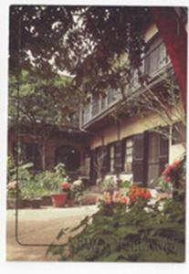 LA New Orleans Courtyard French Quarter 1993 Postcard 4X6