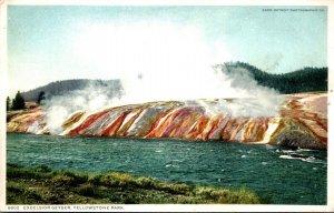 Yellowstone National Park Excelsior Geyser Detroit Publishing