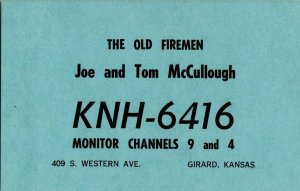 QSL Radio Card From Girard Kansas KNH-6416