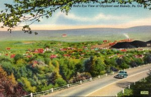 Pennsylvania Birds Eye View Of Olyphant and Blakely