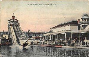 San Francisco California 1908 Postcard Amusement Park The Chutes