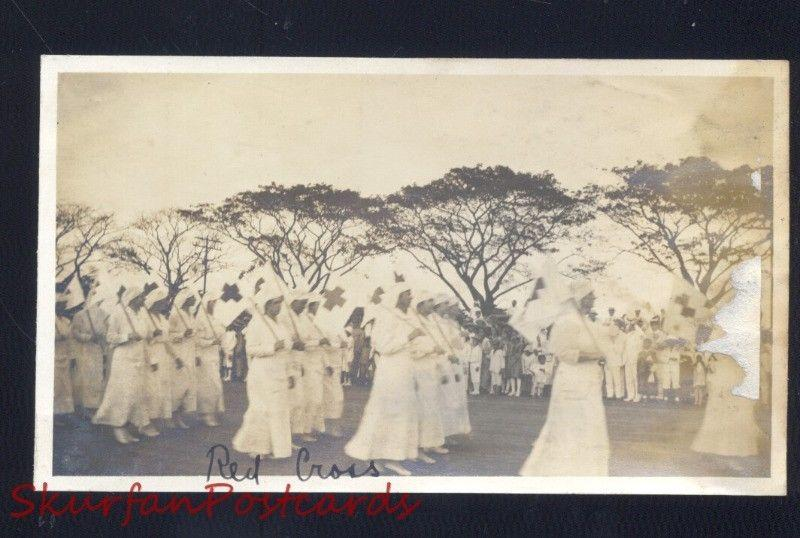 MANILA PHILIPPINES RED CROSS WOMEN NURSES VINTAGE REAL PHOTO PHOTOGRAPH