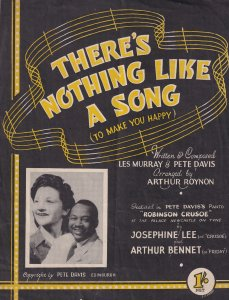 There Is Nothing Like A Song Robinson Crusoe 1940s Newcastle Sheet Music