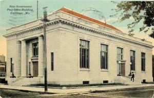 Carthage Missouri~New Government Post Office Building~1910 PC