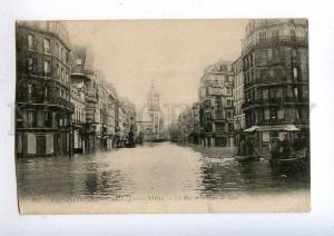 192462 FRANCE PARIS flooding 1910 Rue Gare de Lyon Vintage PC