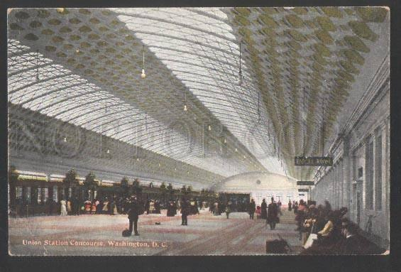 3100647 USA Union Station Concourse Washington D.C. Vintage PC
