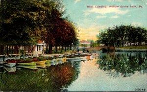 Pennsylvania Philadelphia Willow Grove Park Boat Landing 1910
